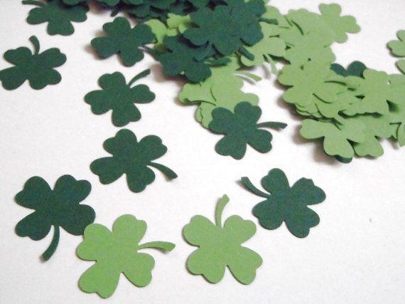 st patricks day shamrock confetti clover irish green four leaf by LaSoffittaDiSte | Etsy