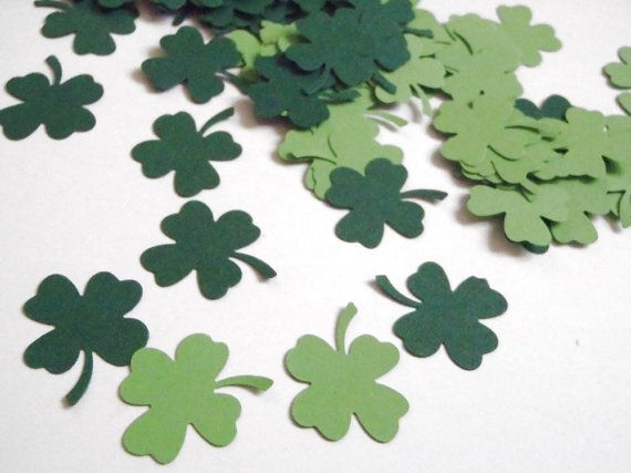st patricks day shamrock confetti clover irish green four leaf party favor irish pub lucky ireland table decor diy garland lasoffittadiste