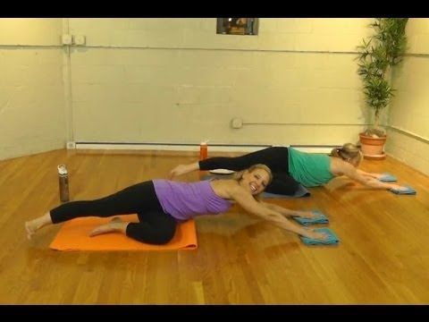 Full 60-min Fusion Glide Workout! Glutes/Butt Cardio & Strength! Just use a towel or paper plates.