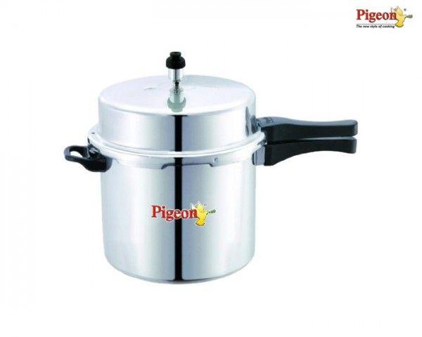 Buy Pigeon Deluxe Aluminium Pressure Cooker (12 Litres) Online Best Price
