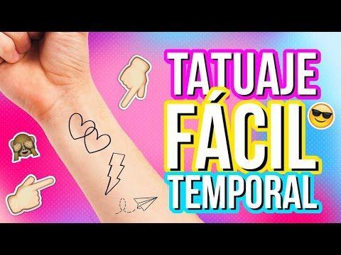 COMO HACER TATUAJES SEMIPERMANENTE CASEROS  Claudipiaachic - YouTube
