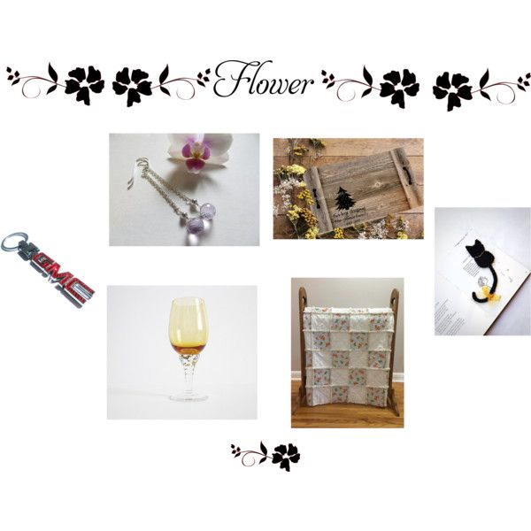 Flower by cozeequilts on Polyvore featuring rustic