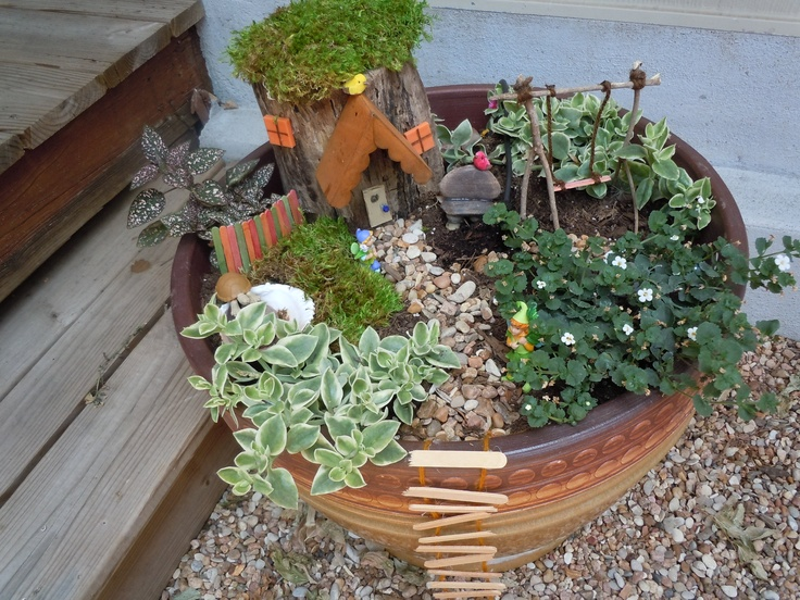 Fairy gardens - love the swing!: Fairygardens, Garden Ideas, Miniature Gardens, Fairy Gardens, Kids, Fairies Garden, Fairy Gardening