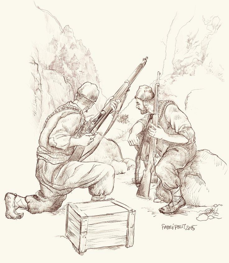 Portakal Çiçeği dergisi / Attila İlhan şiiri, Cebbar Oğlu Mehemmed illüstrasyonu / Cultural and art magazine illustration