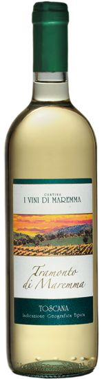 Vino Tramonto di Maremma bianco Toscana IGT Cantina i Vini di Maremma