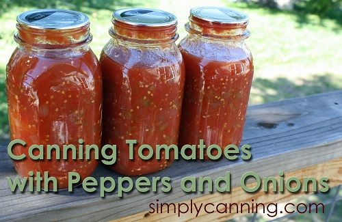 Canning Tomatoes with Peppers and Onions