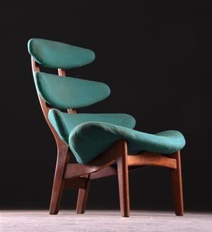 Poul M. Volther; Oak Frame Pyramid Chair for Erik Jørgensens Møbelfabrik, 1953.
