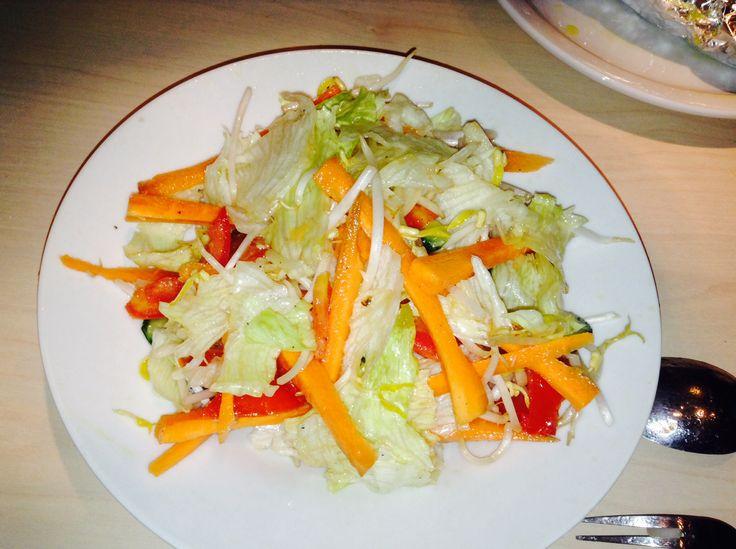 Delicious nutritive salad... #lettuce #carrots #tomatoes #albaca