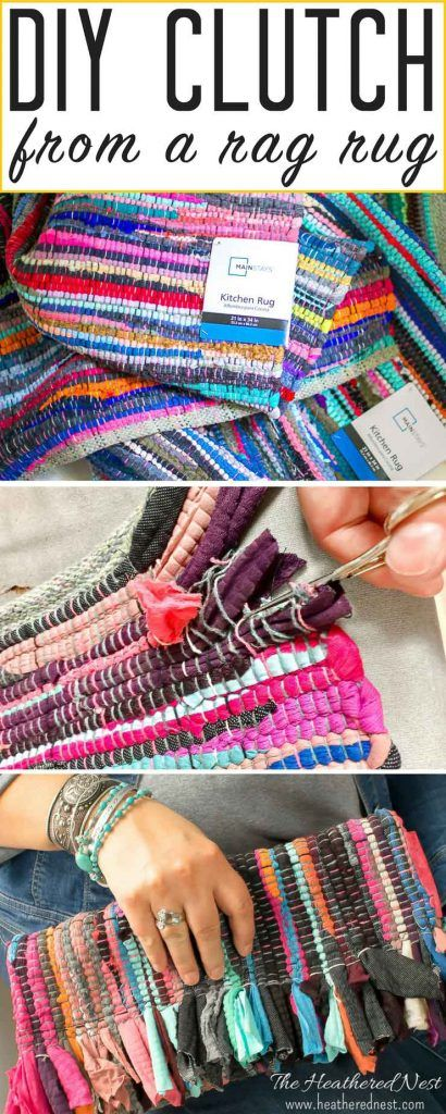 HOW flipping ADORABLE is this DIY clutch!!! She made it from a Chindi rag rug!! FREE PATTERN download for subscribers :) Totally making one this summer...they're so popular right now!
