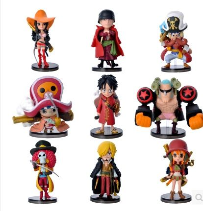 9pcs One Piece Luffy Zoro Nami Usopp Chopper Sanji Nico Franky Brook Action Figures 3.5-7cm //Price: $26.00 & FREE Shipping //     #onepiece #onepieceanime #dluffystore