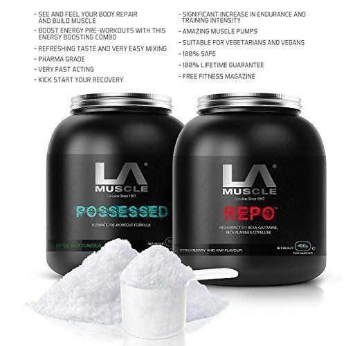 LA Muscle Pre  Post Workout Stack instant mixing see its effects in just ONE DOSE * Click image for more details.
