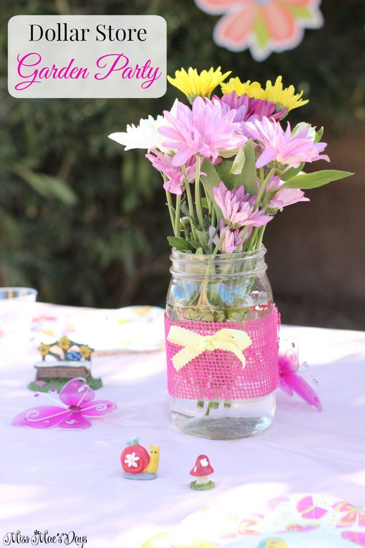 Plan a GORGEOUS Garden Party this Spring with supplies from the dollar store! I planned this for my 11 year old daughter's birthday...and I did it on a whim! All details were planned on a frugal budget and no difficult crafting necessary. Just cute details that made our Garden Party guests feel extra special!