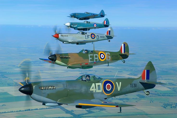 Morning all today's picture is 5 of the Flights Spitfires TE311, P7350, MK356, PS915 and PM631 taken by John Dibbs in 2013. Paul B