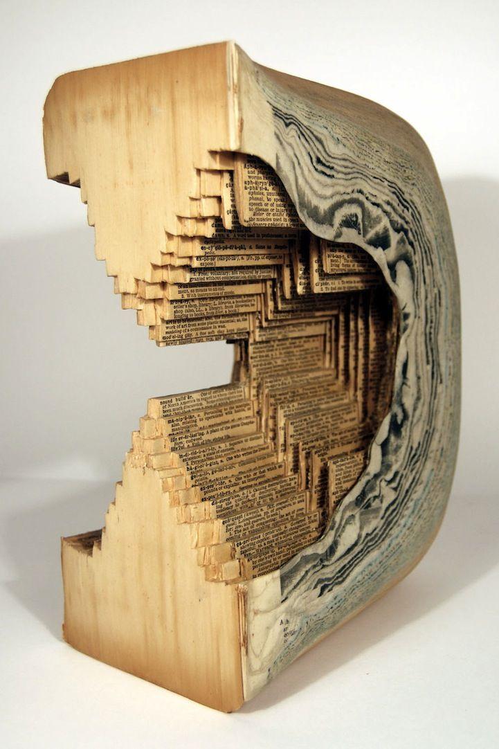 Brian Dettmer: Books Carvings, Books Sculpture, Books Art, The Artists, Brian Dettmer, Paper Sculpture, Altered Books, Books Surgeon, Old Books