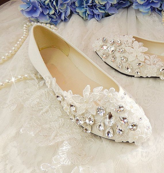 Handmade Pearl White lace bow wedding by weddingdressoverture, $55.99