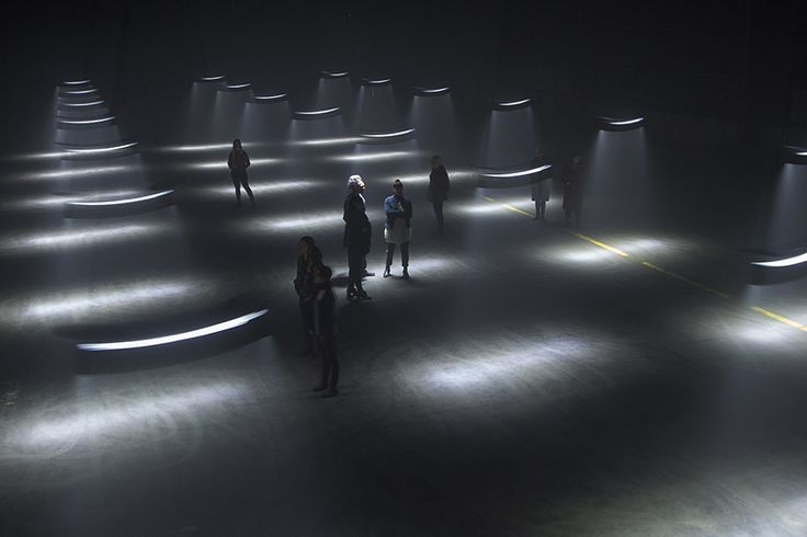 united visual artists' large-scale light installation plays with the perception of time