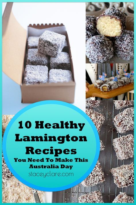 10 healthy lamington recipes for Australia Day. Allergy friendly Gluten free Egg free Dairy Free Paleo Lamington Slice Lamington Ball recipes