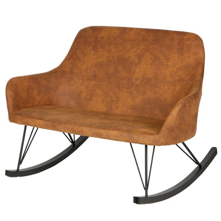 Schaukelsofabank ROLL Vintage Braun Auswahl: 1 X Schaukelsofabank ROLL  Vintage Braun Material: Gestell:
