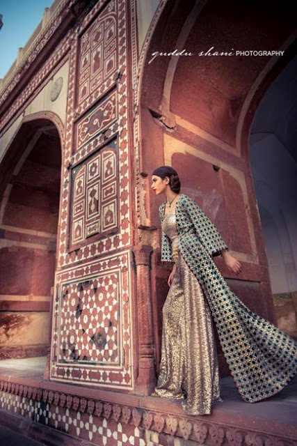 Traditional Shirt with Churi Pajama | Threads & Motif Collection 2012-2013 | Mughal Style Shirt for Girls | Fashion Asian