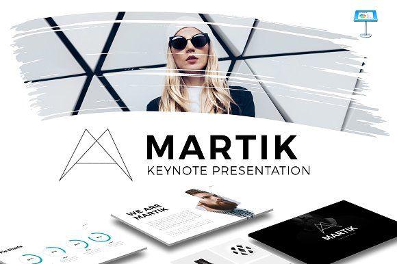 Martik Keynote Presentation Template by Slidedizer on @creativemarket
