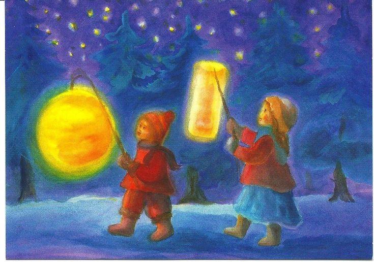 November ~ Warmth & Lanterns ~ Lantern Walk ~ Mili Weber (1891 - 1978)