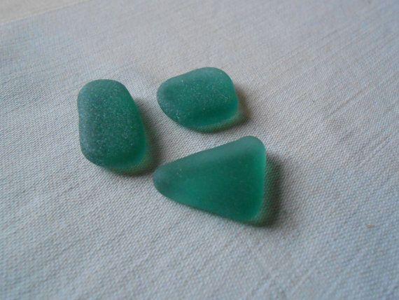 Vetro di mare verde acquamarina teal sea glass di lepropostedimari