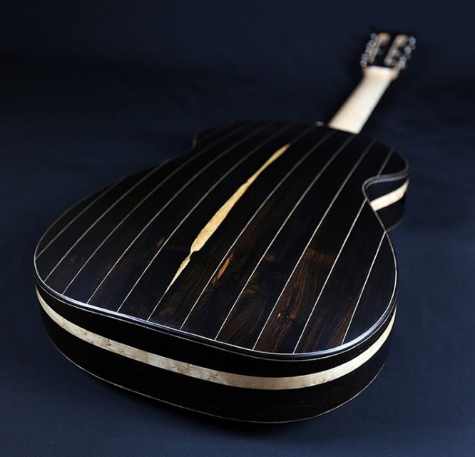 Vaultback Acoustic Guitar African Blackwood Laid