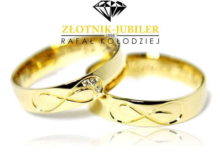 Obraczki Slubne 585 Lazur B125 Nieskonczonosc 7117333743 Oficjalne Archiwum Allegro Wedding Rings Jewelry Diamond Jewelry