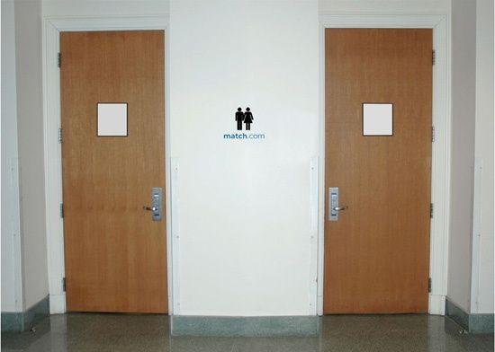 Match.com | #public #toilet #print #sticker #creative #viral #guerillamarketing #guerilla #btl #ambientmedia < repinned by www.BlickeDeeler.de