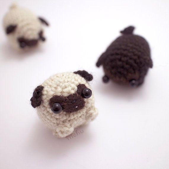 pug crochet pattern amigurumi dog pattern by mohustore on Etsy