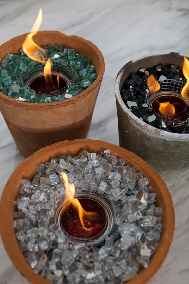 You HAVE To See These DIY, Non-Toxic Table Top Fire Pits! | Tabletop firepit, Outside fire pits, Fire pit backyard