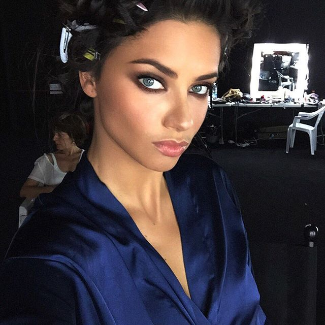 Victoria's Secret angel and model Adriana Lima closeup selfie!