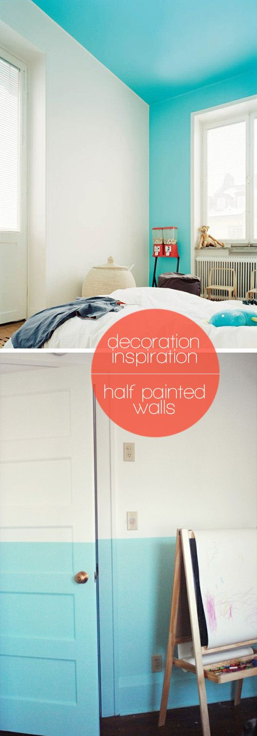 decoration inspiration: half painted wallsPainted Wall