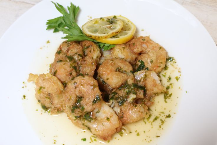 Ok, this Shrimp Francese is one of my new favorite things. Our chef told me that it was a popular dish in New York. Honestly I have been craving it since