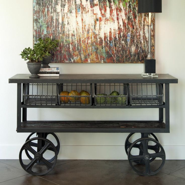 Trolley Console Table