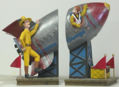 adorable book ends find this pin and more on curious george bedroom