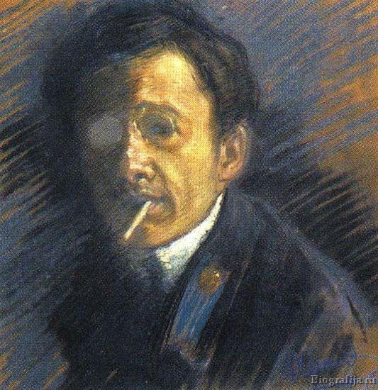 http://renew23.livejournal.com/18910.html Ю.П.Анненков, автопортрет, 1910год.