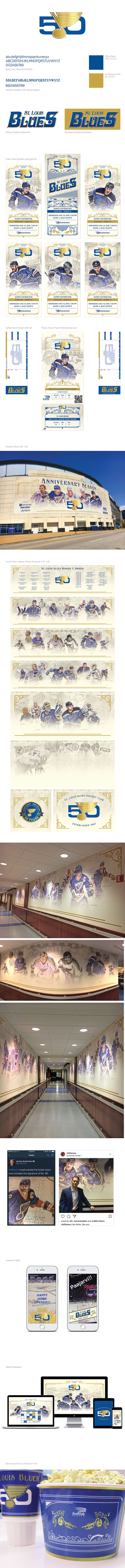 St. Louis Blues 50th Anniversary Campaign on Behance