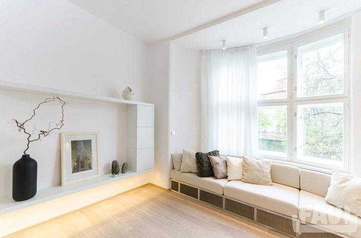 Minimalistické obývací pokoje inspirace - Na Valech | Favi.cz