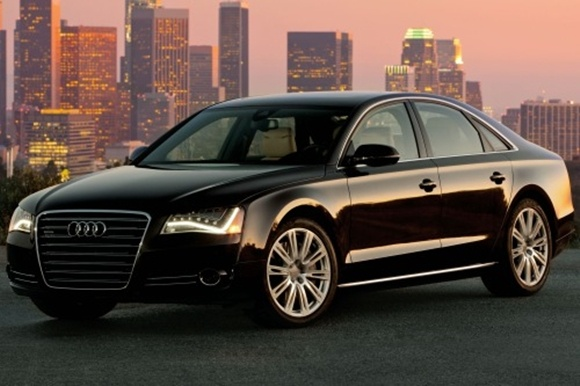2013 Audi A8 6.3 Sedan L W12 quattro Tiptronic is equipped with a standard 6.3-liter, V12, 500-horsepower engine that achieves 14-mpg in the city and 21-mpg on the highway. A 6 speed automatic transmission with overdrive is standard.
