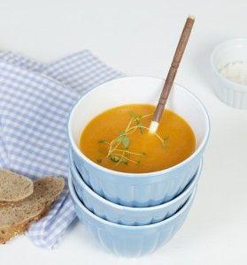 Gulrot- og ingefærsuppe