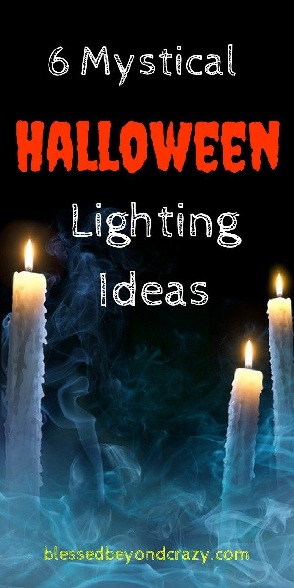 6 mystical halloween lighting ideas - Halloween Light Ideas