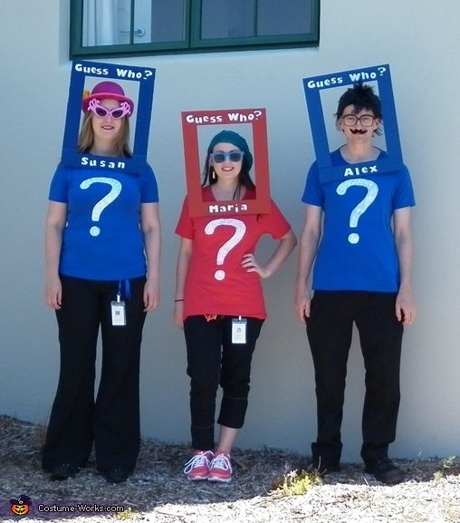 Group Halloween Costume Idea: Guess Who Characters - 2014 Halloween Costume Contest