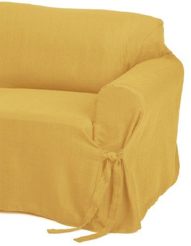 Jacquard Fabric Solid Gold Couch Sofa Cover Slipcover Listing Price 59 99 Now