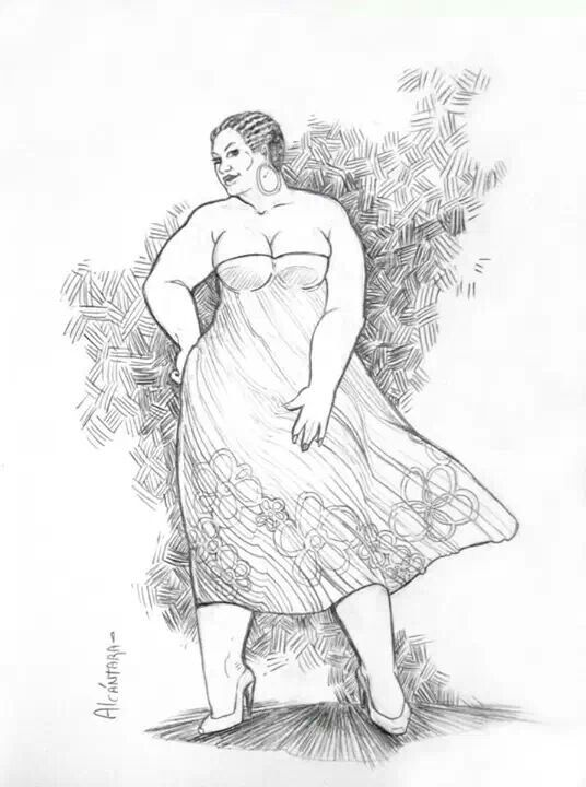 Large women art bbw art