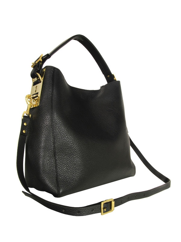 Sophie Hulme Black Stamped Bucket Bag at Coggles