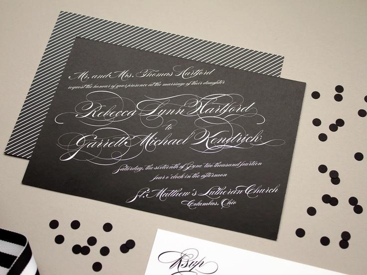 97 best invitations images on pinterest wedding stationery calligraphy script wedding invitation black tie weddings formal wedding invites zen deposit stopboris Gallery