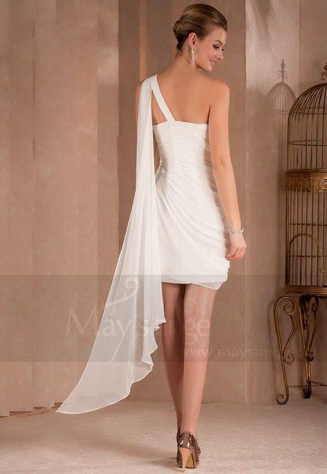 Robe de cocktail blanche courte