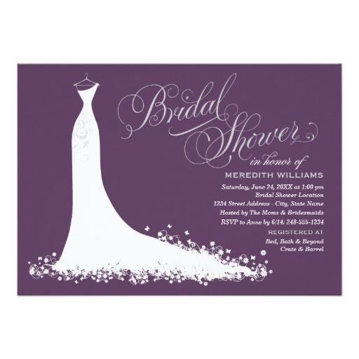 Best Wedding Gown Themed Invitations Images On