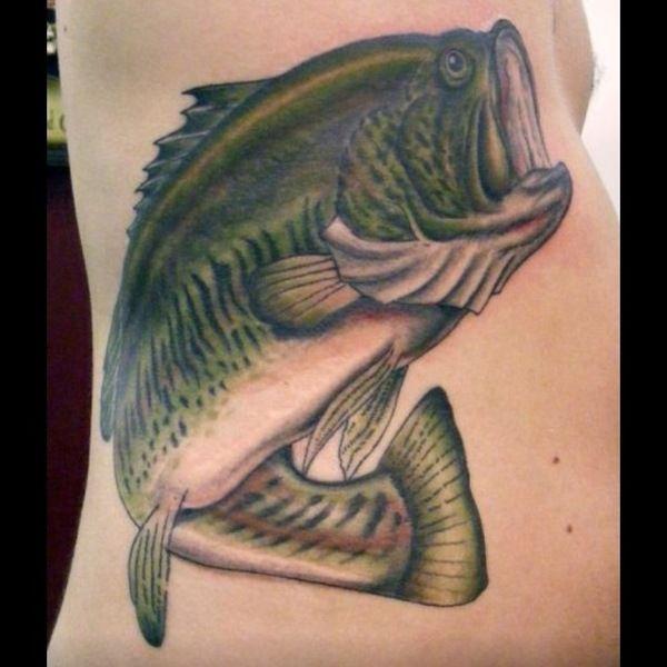 37 best largemouth bass tattoo ideas images on pinterest for Bass fish tattoo